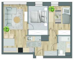 mieszkanie dla malej rodziny